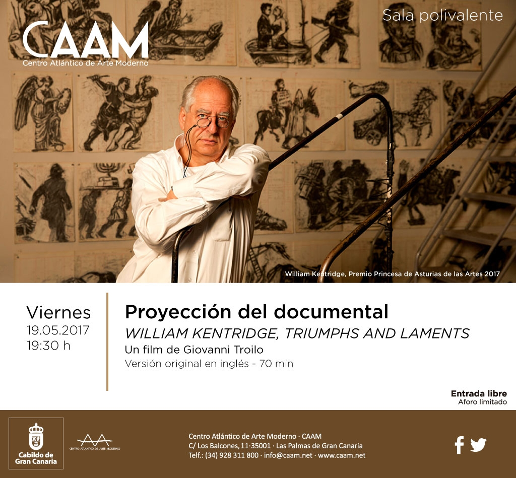 Documental William Kentridge-CAAM 19 mayo 2017